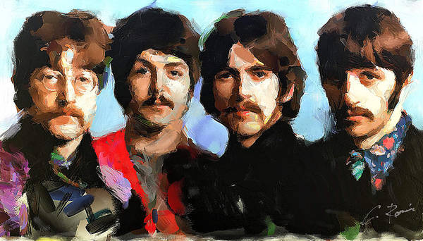 Painting - The Beatles by Charlie Roman