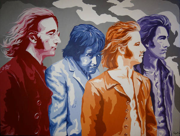Wall Art - Painting - The Beatles by Chris Figat