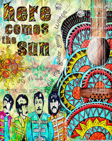 Tara Painting - The Beatles Here Comes The Sun by Tara Richelle