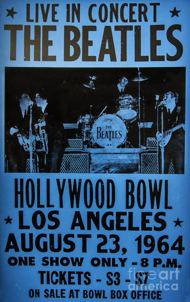 Ringo Star Wall Art - Photograph - The Beatles Live At The Hollywood Bowl by Mitch Shindelbower