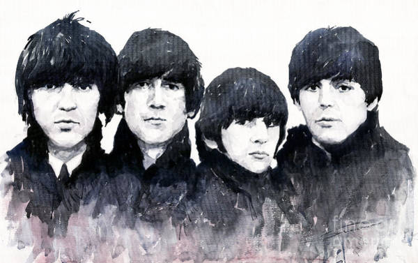 Watercolours Wall Art - Painting - The Beatles by Yuriy Shevchuk