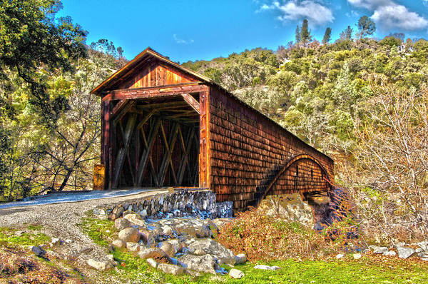 Yuba River Photograph - The Beautiful Bridgeport Covered Bridge by John Alves