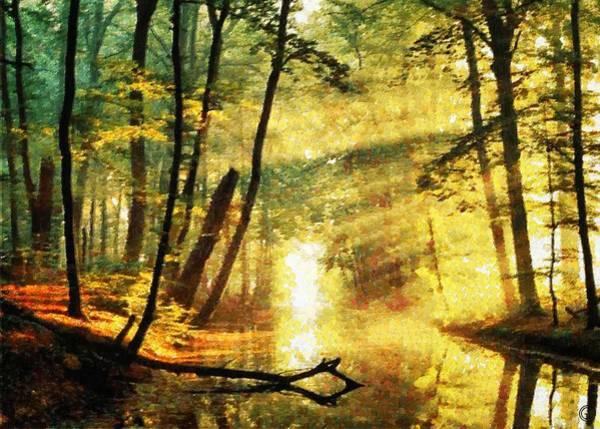 Wall Art - Digital Art - The Beautiful Face Of Autumn by Gun Legler