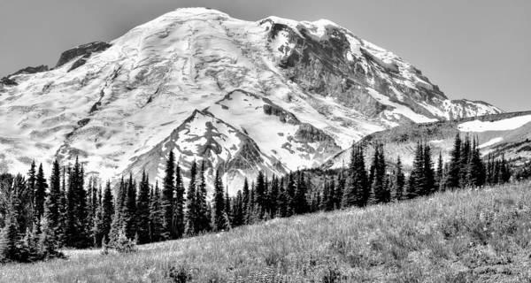 Photograph - The Beautiful Mount Rainier At Sunrise Park - Washington State by David Patterson