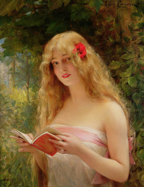 Wall Art - Painting - The Beautiful Reader by Leon Francois Comerre