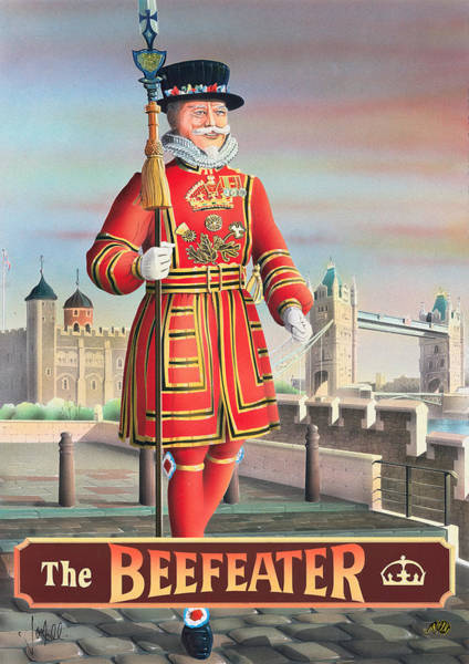 Tavern Painting - The Beefeater by MGL Meiklejohn Graphics Licensing