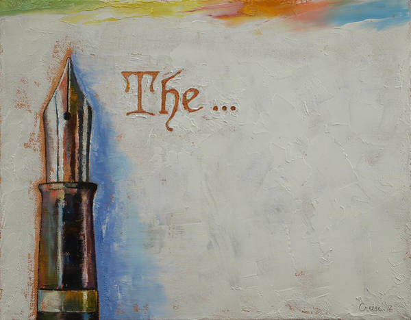 Wall Art - Painting - The Beginning by Michael Creese