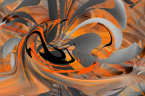 Digital Art - The Beginning Of The End - Abstract Art by rd Erickson