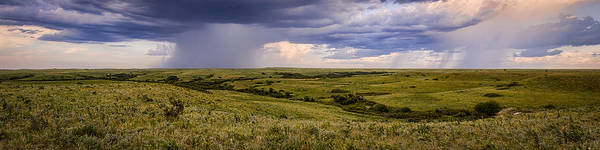 The Beginnings - Flint Hills Storm Pano Art Print