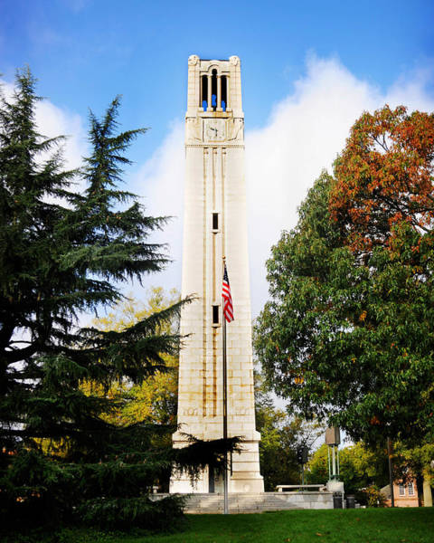 Photograph - The Belltower At Nc State University by Val Stone Creager