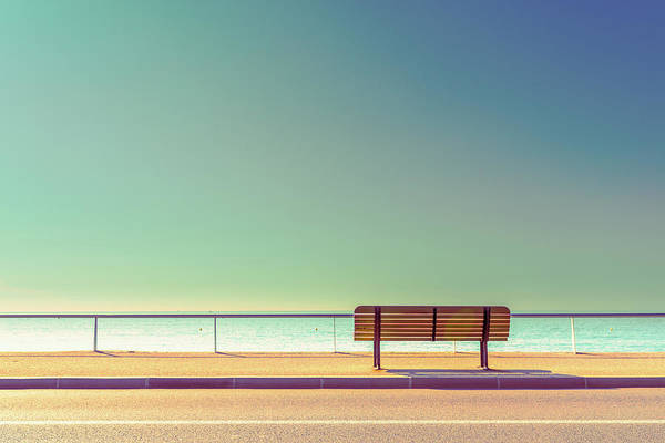 Colours Photograph - The Bench by Arnaud Bratkovic