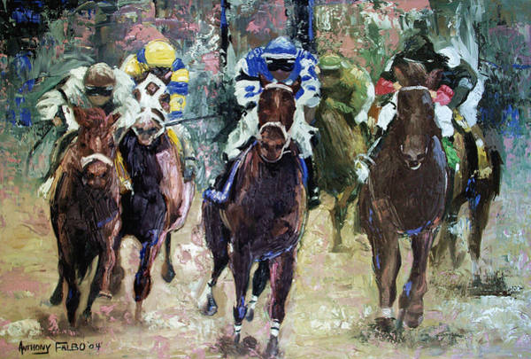 Painting - The Bets Are On by Anthony Falbo