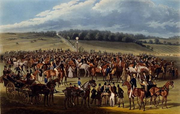 Equestrian Drawing - The Betting Post, Print Made By Charles by James Pollard