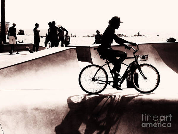 Cultivation Digital Art - The Bicyclist by Charles H Davis