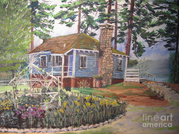 Pastel - The Big Camp by Francois Lamothe