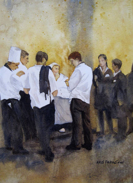 Waitress Wall Art - Painting - The Big Night by Kris Parins