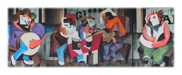 Painting - The Big Session by Val Byrne