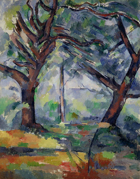 Wall Art - Painting - The Big Trees by Paul Cezanne