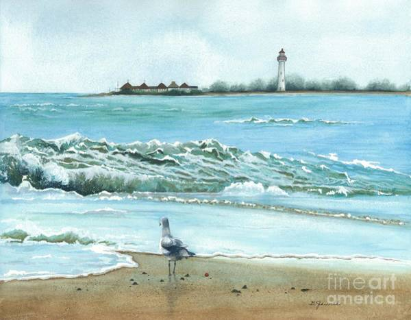 Cape May Painting - The Big Wave by Barbara Jewell
