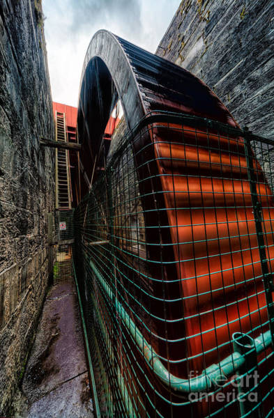 Water Wheel Wall Art - Photograph - The Big Wheel by Adrian Evans