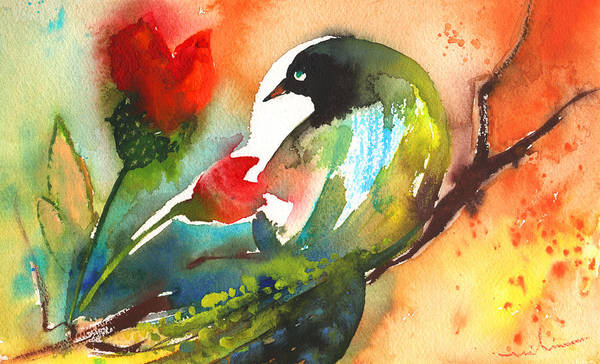 Painting - The Bird And The Flower 03 by Miki De Goodaboom