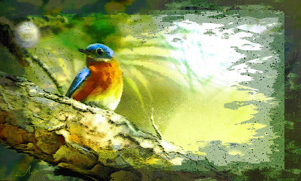 Painting - The Bird And The Golf Ball by Miki De Goodaboom