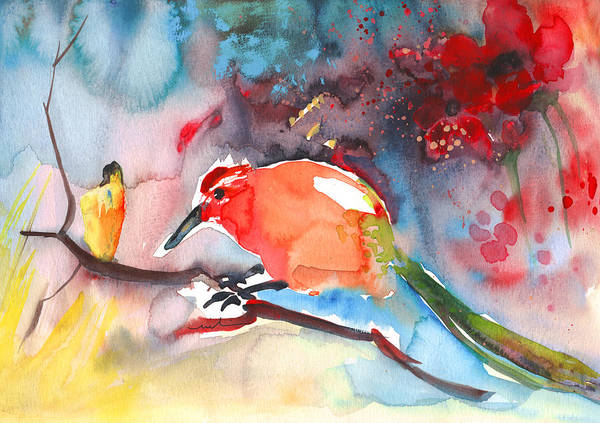 Painting - The Bird And The Little Girl by Miki De Goodaboom