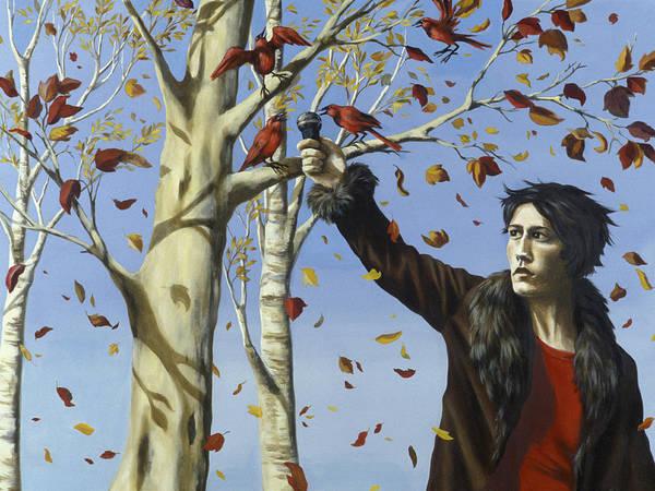 Bird Watcher Photograph - The Birds In Our Garden Acrylic & Oil On Canvas by Alix Soubiran-Hall
