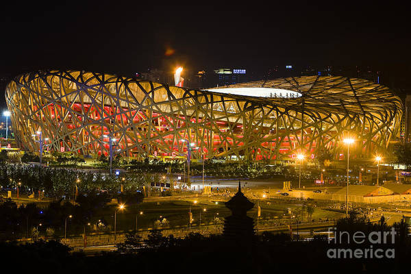 The Birds Nest Stadium China Art Print