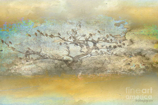 Painting - The Birdy Tree by Chris Armytage