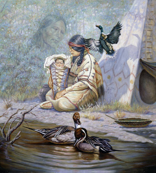 Mother Earth Wall Art - Painting - The Birth Of Hiawatha by Gregory Perillo