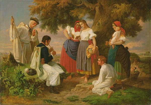 Shepherds Photograph - The Birth Of The Folk-song by Janos Janko