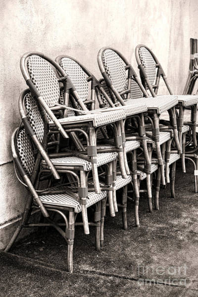 Wicker Chair Photograph - The Bistro Has Closed by Olivier Le Queinec
