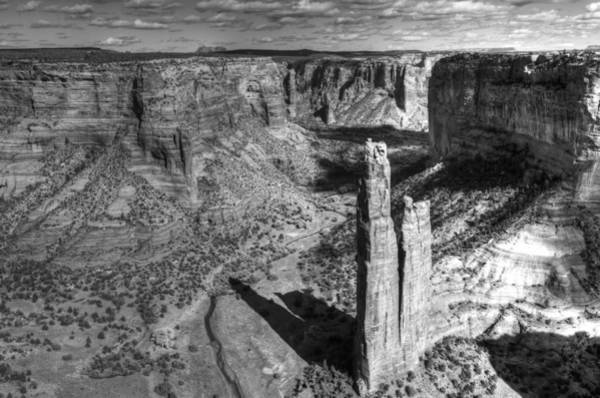 Spider Rock Photograph - The Black And White Of It by Bryan Shane