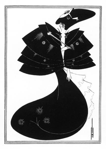 Beardsley Drawing - The Black Cape by Mary Evans Picture Library