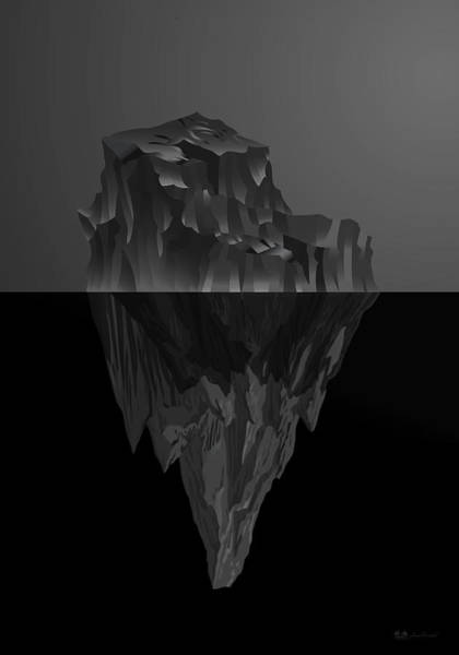 Digital Art - The Black Iceberg by Serge Averbukh