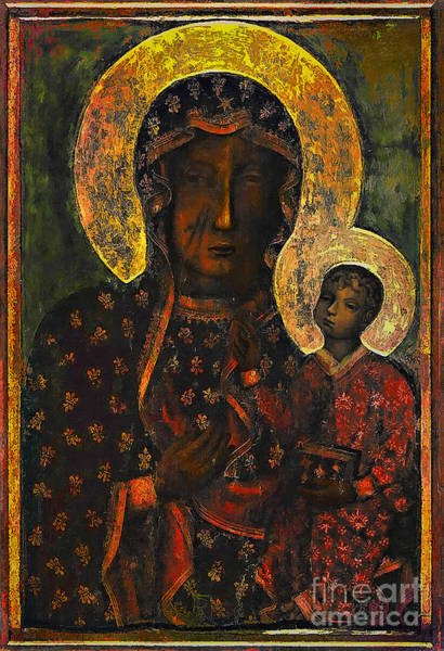 Images Wall Art - Painting - The Black Madonna by Andrzej Szczerski