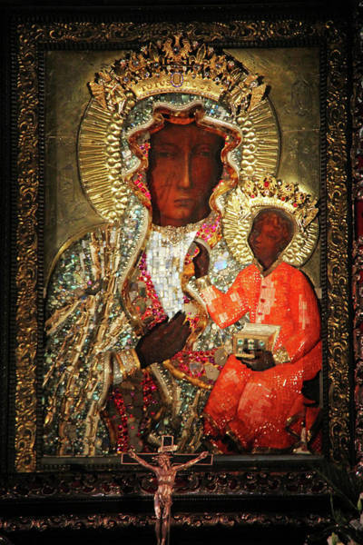Holy Trinity Photograph - The Black Madonna by Mariola Bitner