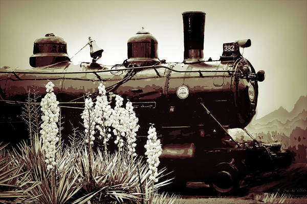 Photograph - The Black Steam Engine by Bonnie Willis