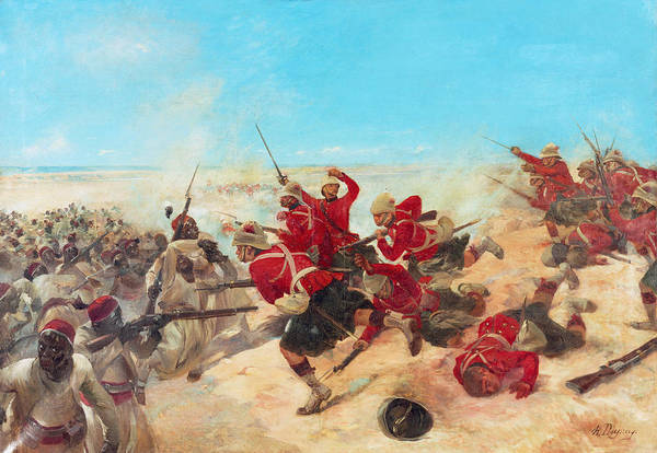 Shooting Painting - The Black Watch At The Battle by Henri-Louis Dupray