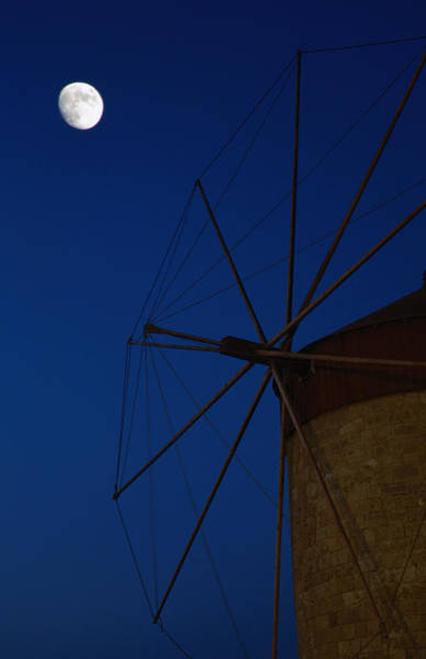 Dodecanese Photograph - The Blades Of An Old Windmill On by George Tsafos