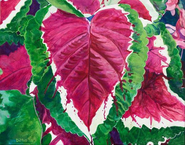 Wall Art - Painting - The Bleeding Heart by Chrissey Dittus