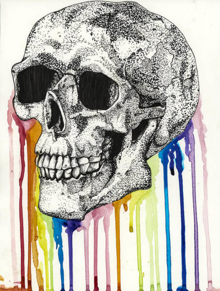 Photograph - The Bleeding Skull by Molly