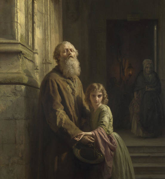 Believers Painting - The Blind Beggar by Josephus Laurentius Dyckmans