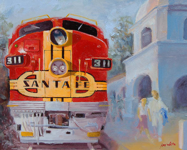 Diesel Trains Painting - The Chief In San Juan Capistrano by Joe White