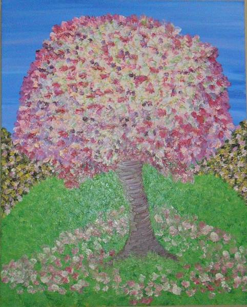 Wall Art - Painting - The Blossom Tree by Jilly Curtis