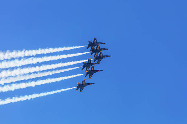 Coordination Wall Art - Photograph - The Blue Angels Flying In Formation by Diane Macdonald