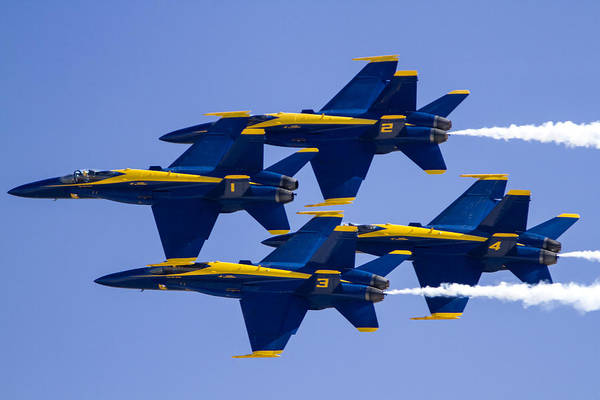 Photograph - The Blue Angels In Action 1 by Jim Moss