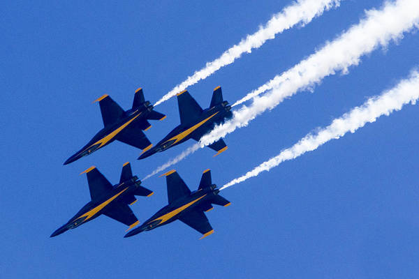 Photograph - The Blue Angels In Action 2 by Jim Moss