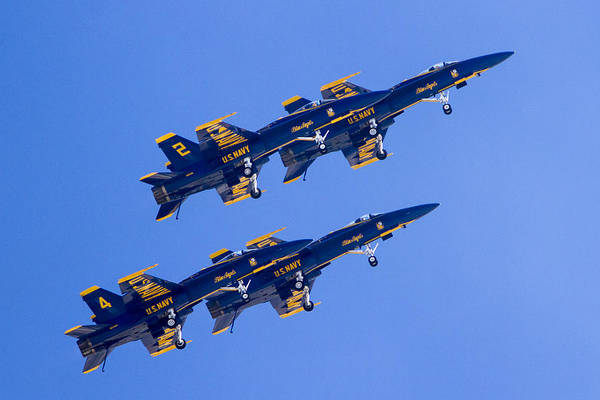 Photograph - The Blue Angels In Action 3 by Jim Moss